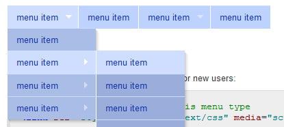 Enkel og nøytral CSS-meny med undermenyer